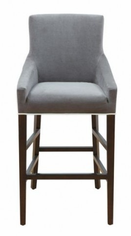 Vincent Grey/Ivory Counter Stool