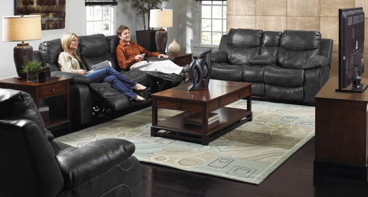 Catalina Steel Power Reclining Living Room Set