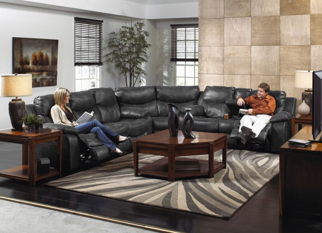 Catalina Steel Power Reclining Sectional