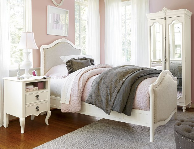 Genevieve French White Youth Panel Bedroom Set