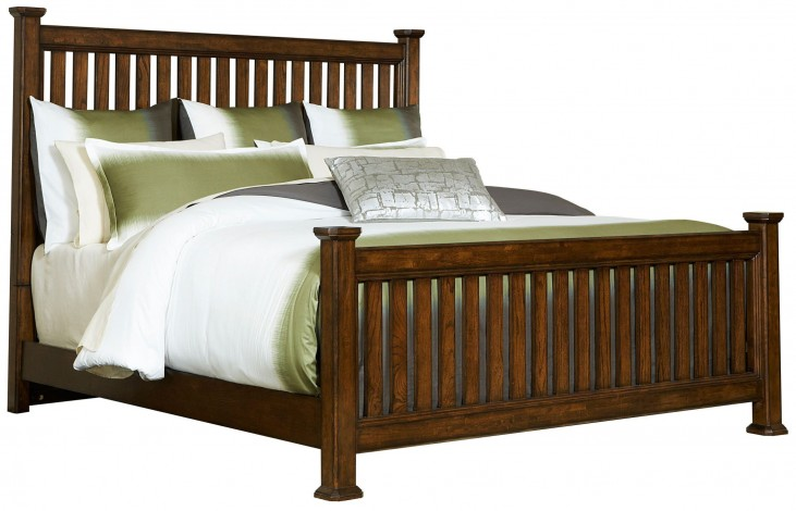 Estes Park Queen Slat Poster Bed