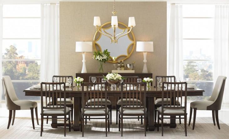 Crestaire Porter Lola Double Pedestal Extendable Dining Room Set