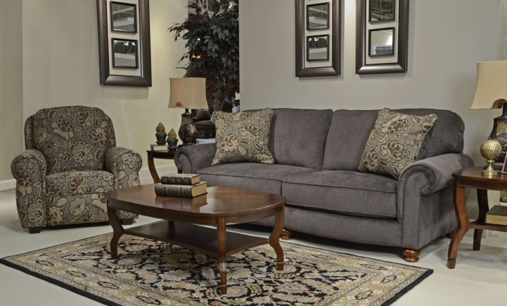 Downing Charcoal Living Room Set
