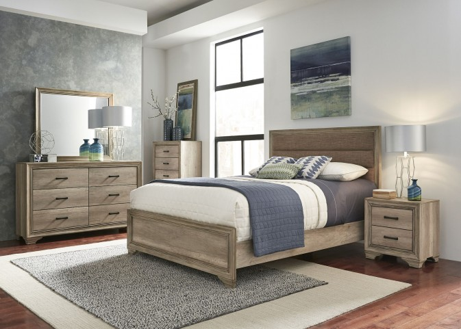 Sun Valley Sandstone Upholstered Panel Bedroom Set