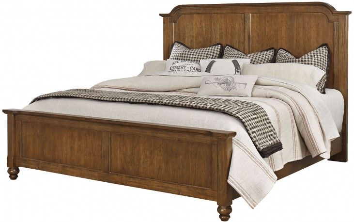 Arrendelle Antique Cherry King Mansion Bed