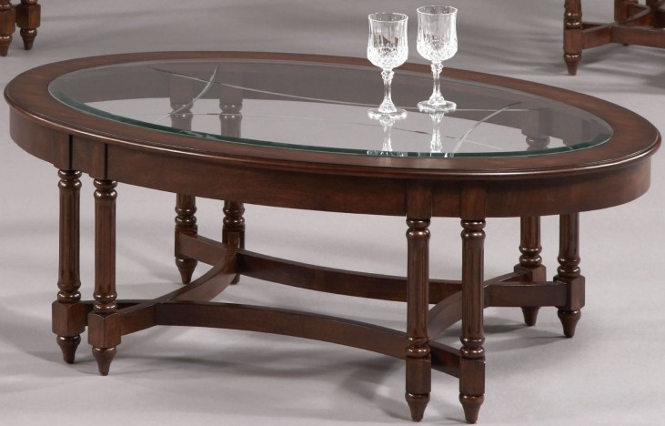 Canton Heights Dark Berry Oval Cocktail Table
