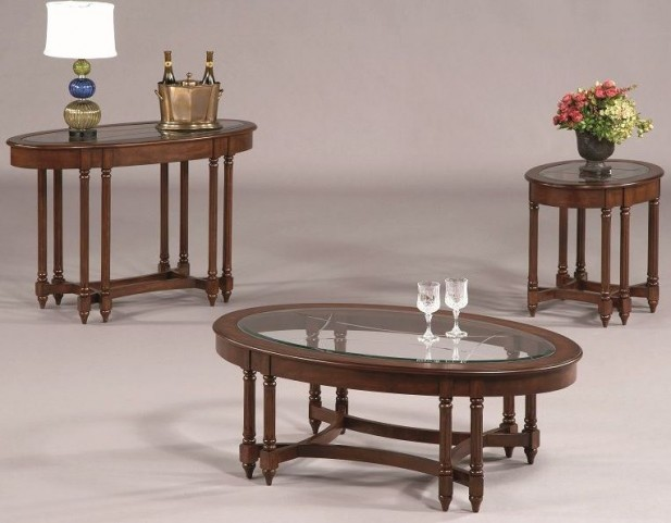 Canton Heights Dark Berry Occasional Table Set