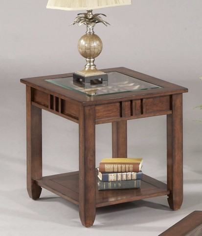 Mission Hills Brown Cherry End Table