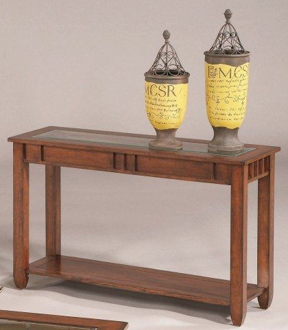 Mission Hills Brown Cherry Sofa Table
