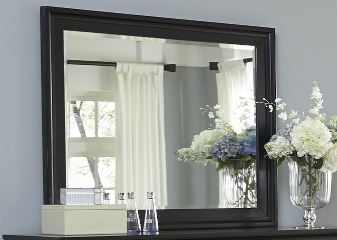 Hamilton III Black Landscape Mirror