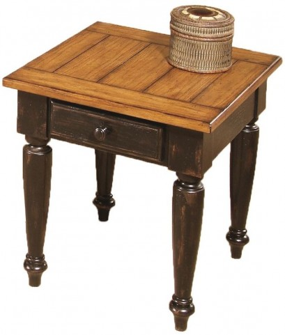 Country Vista Black and Golden End Table