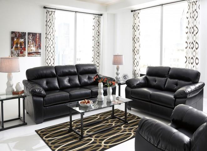 Bastrop Durablend Midnight Living Room Set