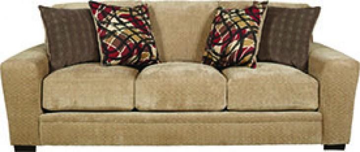 Prescott Oatmeal and Brick Sofa