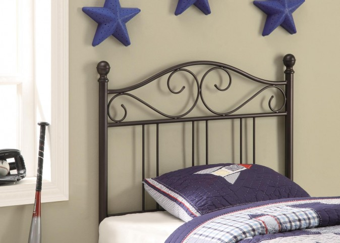 Brown Twin Headboard 450103T