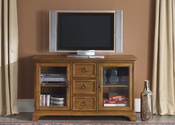 Beacon Oak 54 Inch TV Console