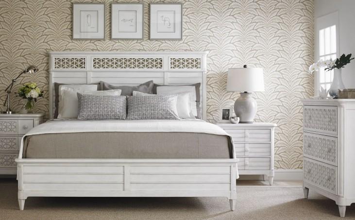 Coastal Living Parchment Cypress Grove Wood Panel Bedroom Set