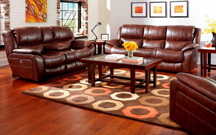 Beckett Java Power Reclining Living Room Set