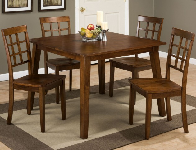 Simplicity Caramel Square Dining Room Set