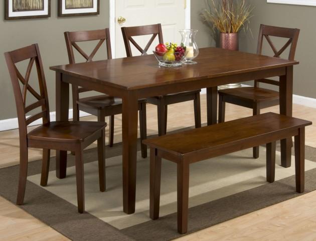 Simplicity Caramel Rectangular Dining Room Set