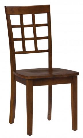Simplicity Caramel Grid Back Chair Set of 2