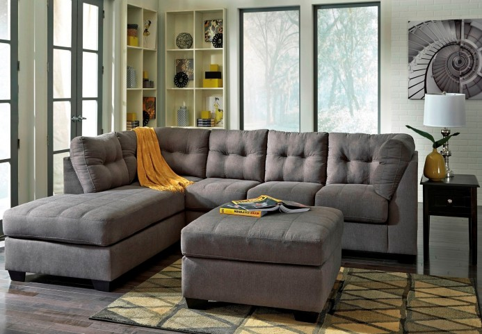 Maier charcoal laf sectional from ashley 45200 16 67 coleman furniture for Maison corbeil chaise bercante