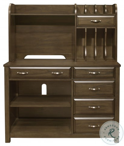 Blanche Brown Gray Credenza With Hutch