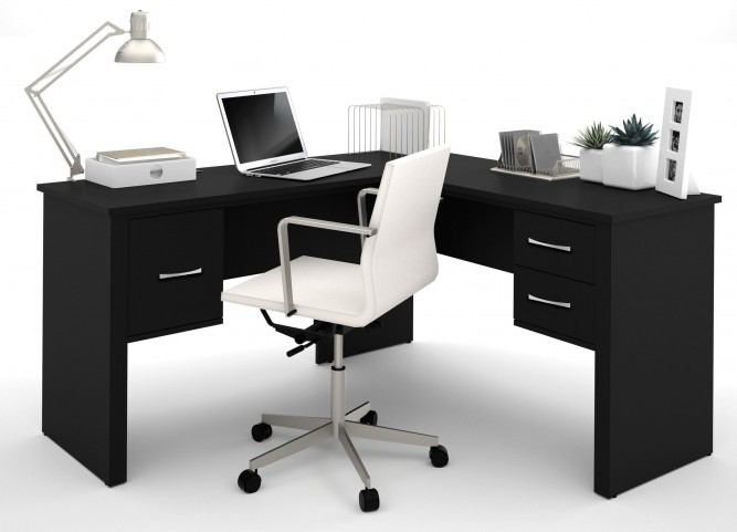 Somerville Black L-Shaped Desk