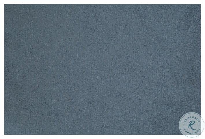 Jaunt Gray Velvet Round Ottoman