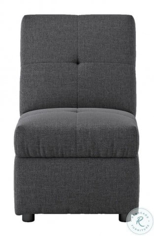 Denby Gray Storage Convertible Chair With Ottoman