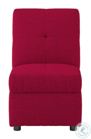 Denby Red Storage Convertible Chair With Ottoman