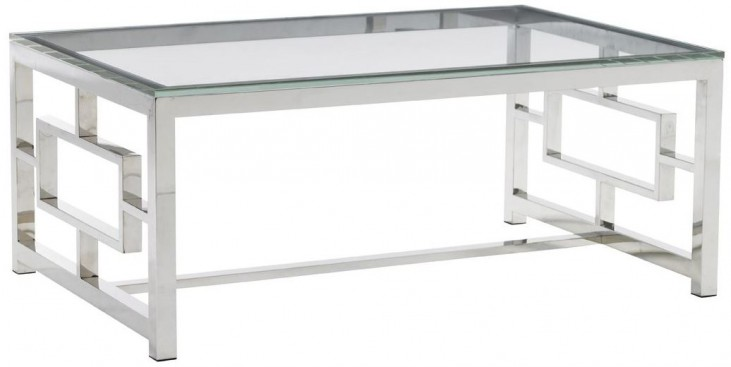 Mirage Russell Glass Top Cocktail Table