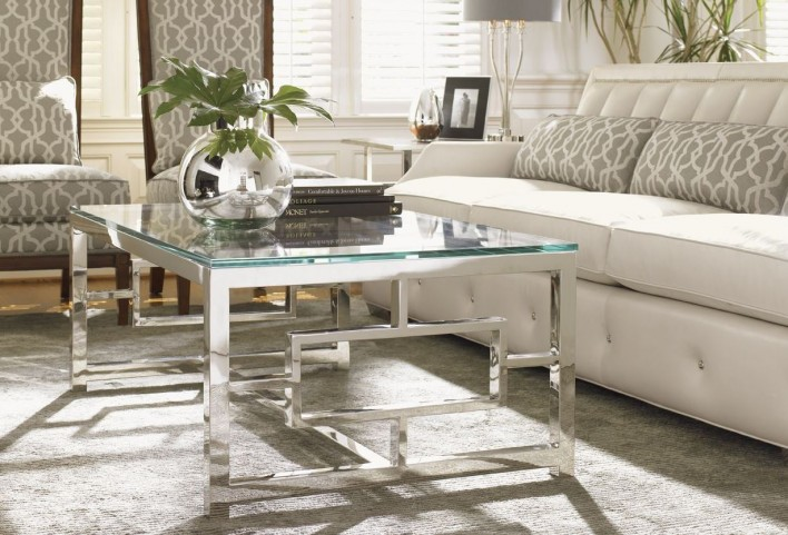 Mirage Russell Glass Top Occasional Table Set