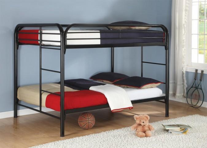 Fordham Black Full Over Full Bunk Bed
