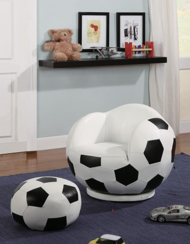 White Small Kids Soccerball Chair 460178