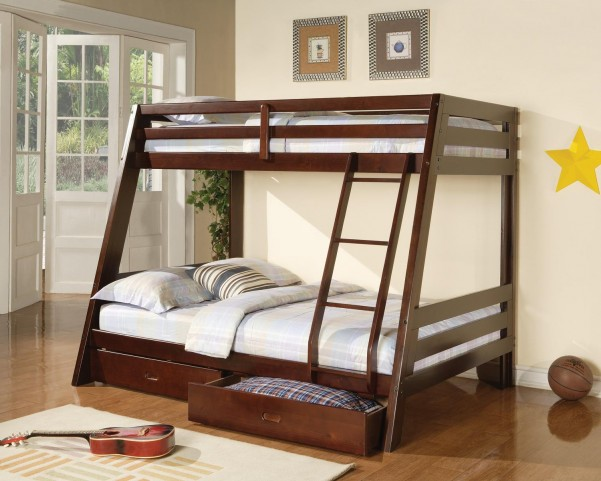 Bunks Cappuccino Twin Over Full Bunk Bed