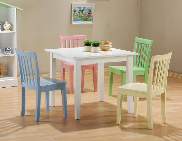 Multi Color 5 Pcs Table & Chair Set 460235