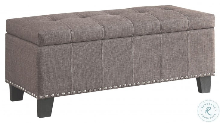 Fedora Brown Lift Top Storage Bench