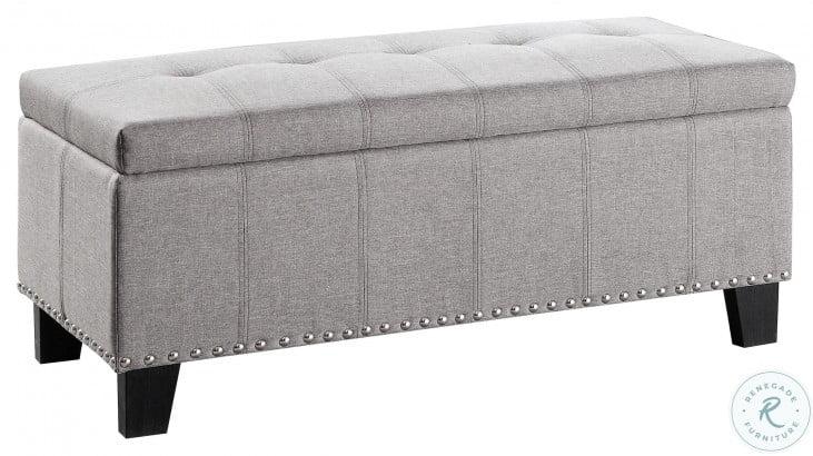 Fedora Gray Lift Top Storage Bench
