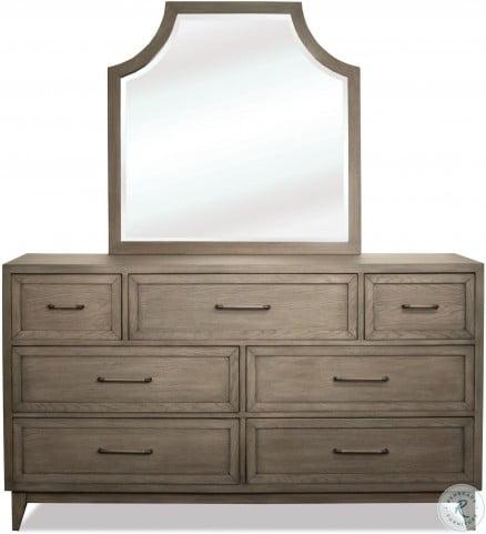 Vogue Gray Wash Arch Mirror