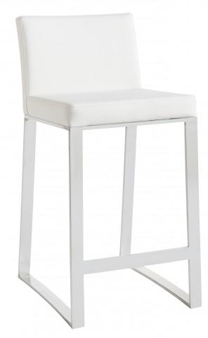 Architect White Barstool