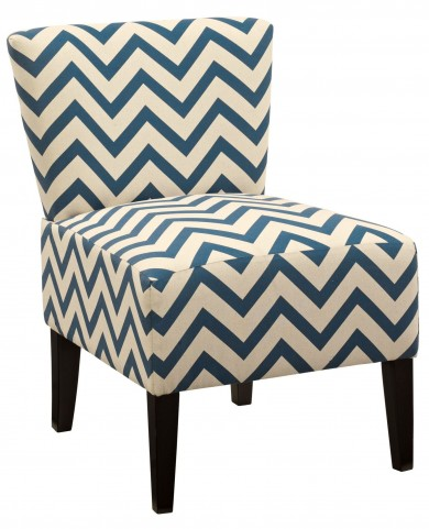 Ravity Blue Accent Chair