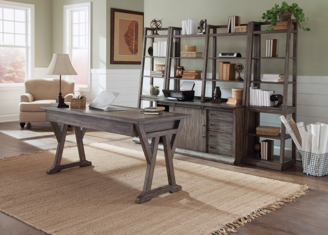 Stone Brook Rustic Saddle Home Office Set