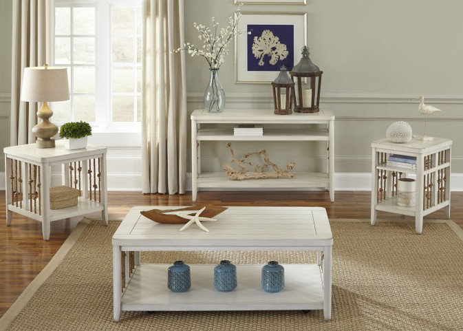 Dockside II White Occasional Table Set
