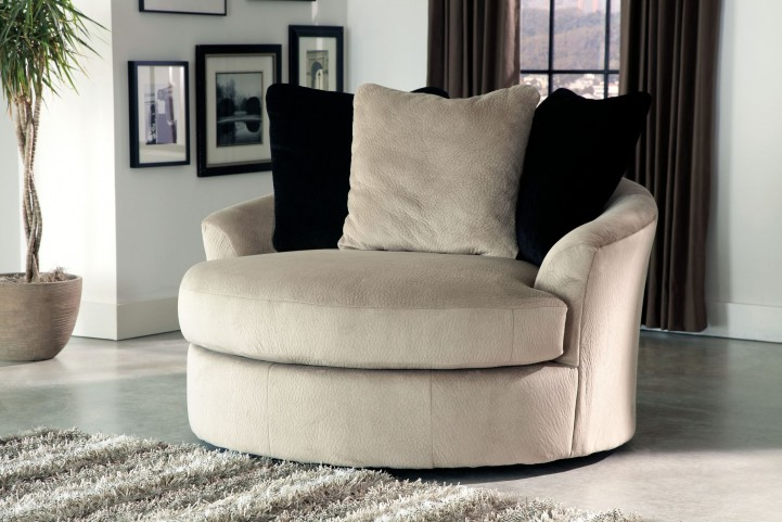 Heflin Pebble Oversized Swivel Accent Chair , 4720121