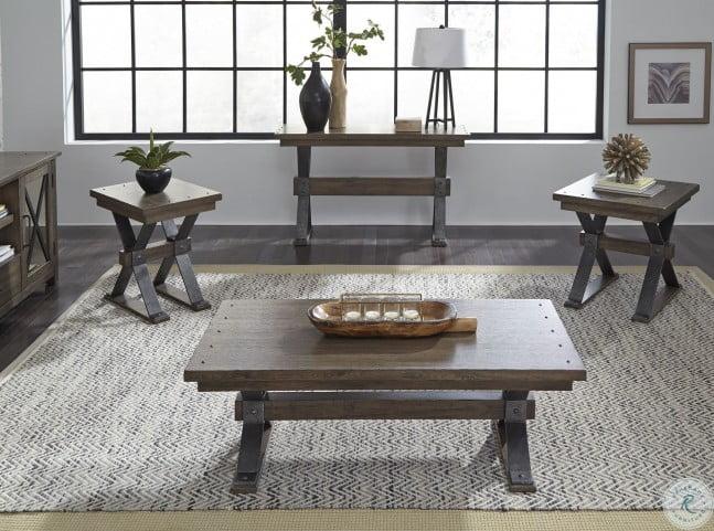 Remarkable Sonoma Road Weathered Beaten Bark Sofa Table Machost Co Dining Chair Design Ideas Machostcouk