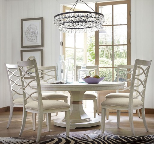 California Malibu Round Extendable Dining Room Set