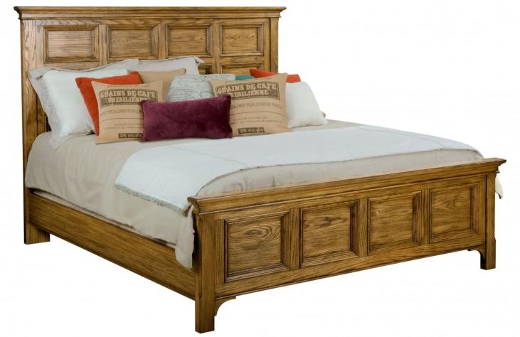 New Vintage Brown Queen Panel Bed