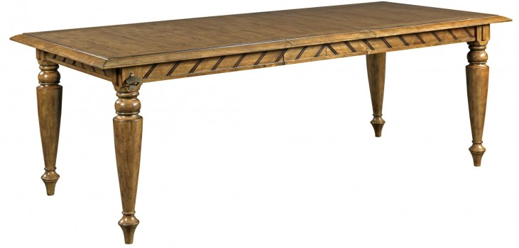 New Vintage Brown Extendable Chevron Dining Table