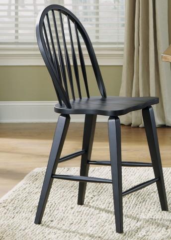 Hearthstone Black Windsor Back Counter Chair