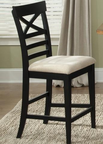 Hearthstone Black X Back Counter Chair
